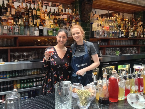 Myself and mixologist Deirdre