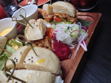 Steamed Brunch Bun with Crab, Miso Mayo, Spring Onion