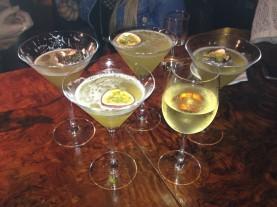 Porn Star Martini cocktails and Tocornal Sauvignon Blanc