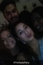 (Clockwise from top) Daniel, Filomena, myself and Niamh