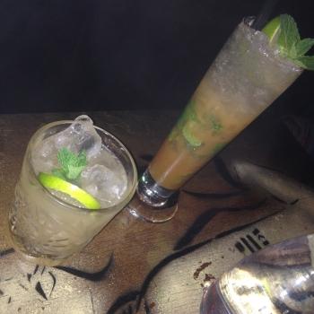 Mai Tai and Irish Apple Mojito cocktails