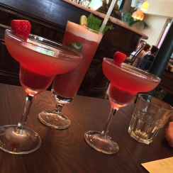 Bellinis and Strawberry & Passionfruit Mocktail