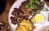 Flank Steak and chips