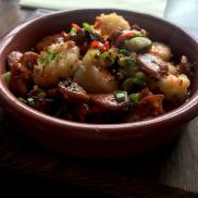 Chorizo, Garlic & Chilli Prawns