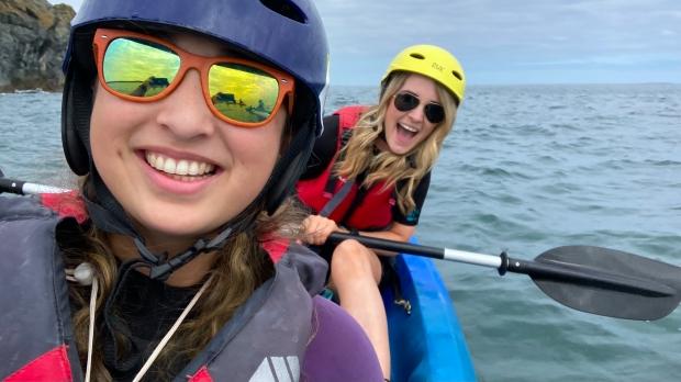 Kayaking Irish Experience Wexford Cookie FM Nirina-12