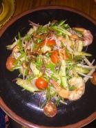 Green Papaya Salad with Tiger Prawns